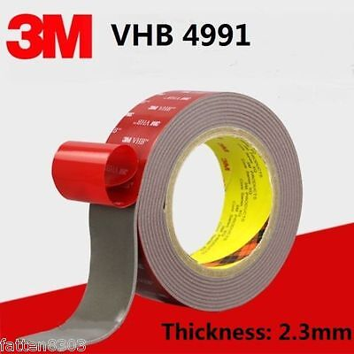 3M VHB 4991 Gray Double-sided Acrylic Foam Tape length 3 Meter * Thickness 2.3mm