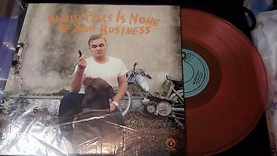 Morrissey world peace hot topic colored vinyl the smiths lp sealed new pink oran