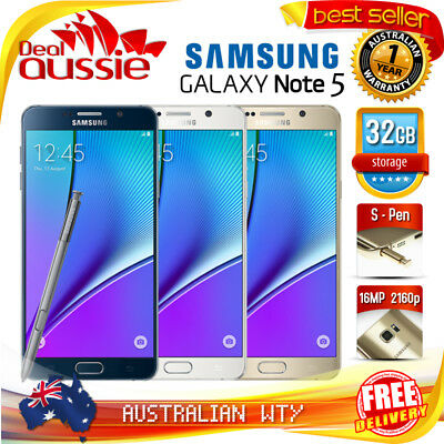 [New Sealed Box] Samsung Galaxy Note 5 N920 32Gb 4G Lte Unlocked Phone + Oz Wty