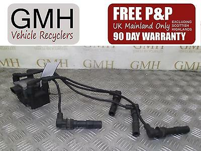 Audi A2 1.4 Petrol Ignition Coil Pack With Leads 4 Pin 06A035281A  2000-2005 ♪§