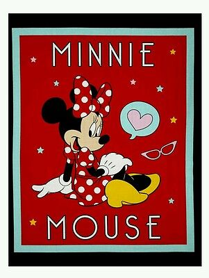 Disney Minnie Mouse Quilt Panel * New * In Stock * Free Post ��