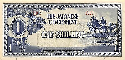 Oceania 1/-  ND. 1942  P 2a  WWII issue circulated Banknote WM9