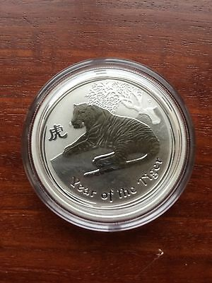 2010 Perth Mint Lunar Series 2 Tiger 1/2 Oz Silver Coin