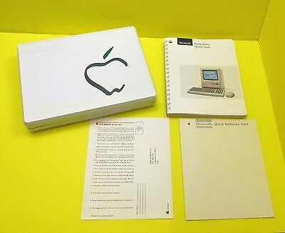 RARE 1987 Macintosh Plus Owner's Guide & Reference Card + 1984 Picasso Case LOT