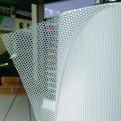 White Perforated Car Window Fly Eye Headlight Film Mesh One Way Vision Wrap