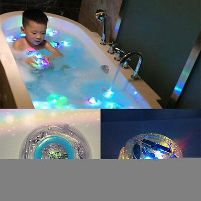 Waterproof Bathroom LED Light Toys Kids Children Funny Bath Toy Multicolor OG