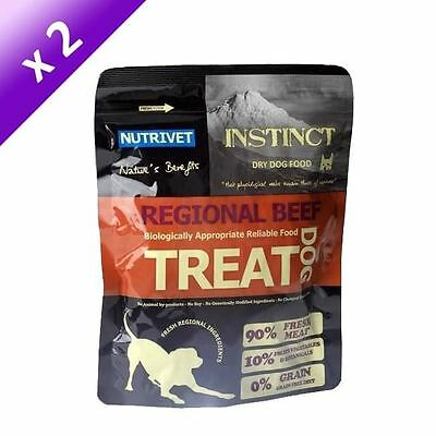 Lot de 2 - NUTRIVET Instinct Dog Treat Friandise au boeuf - Pour chien - 250 g