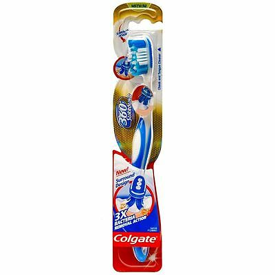 Colgate 360 Degree Toothbrush Clean Whole Mouth Deep Medium B Cleaner Surround