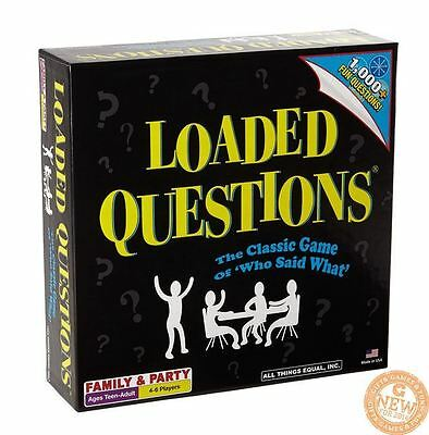 Loaded Questions Game - Who Said What Family After Dinner Party Board Game
