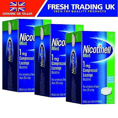 Nicotinell Lozenges Mint 1mg - 96 Lozenges - 3 Pack - Dated 07/2017