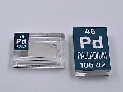 5 GRAINS OF .999 PURE PALLADIUM  BAR in Protective Capsule. Rarer Than GOLD!
