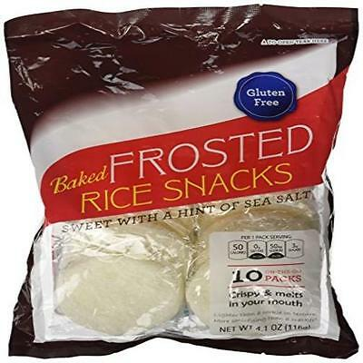 Baked Frosted Rice Snacks 10 Pack(S) Kameda New