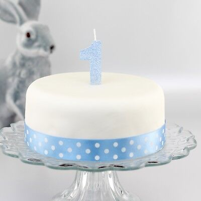 1st Birthday Glitter Number Candle, babies first birthday cake, choice of colour