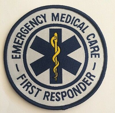 Emergency Medical Care First Responder Star Of Life Medic Patch Badge Sew Iron