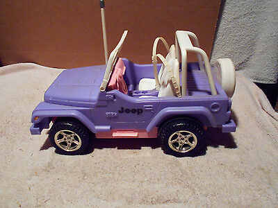 Rare Barbie Purple Beach Jeep Wrangler Remote Controlled Vehicle W/OUT REMOTE