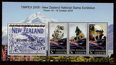 New Zealand 2009  Timpex  Exhibition  Mini Sheet (Mnh)