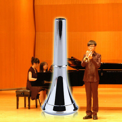 1pc Professional Silver Plated Copper Trumpet Mouthpiece Musical Instrument BY