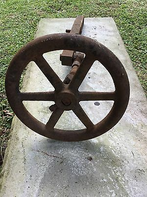 Vintage Antique Iron Wheel For Wagon Buggy Tractor Farm Ranch Decor Steam Punk