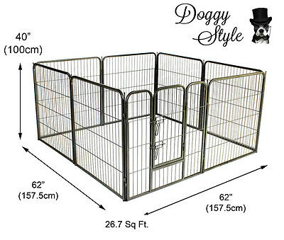 Doggy Style Large 8 Sided Heavy Duty Puppy Play Pen Whelping Dog Cage Ds-Hd01L