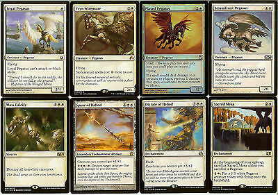 MTG Pegasus (White) Deck - Sacred Mesa, Vryn Wingmare - Magic the Gathering