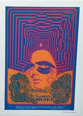 60's POP CULTURE PSYCHEDELIC Poster by WES WILSON  Avalon Ballroom  Book Print