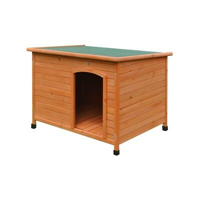 ALEKO 46X31X31 In Dog Kennel Large Pine Weatherproof Shelter Elevated Floor