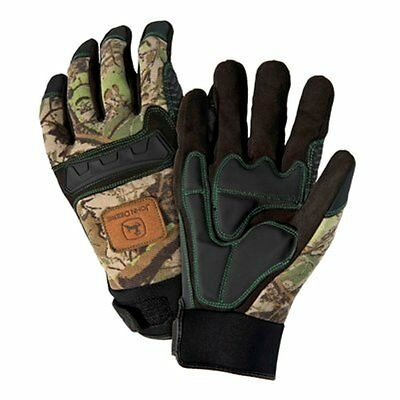 Anti-Vibe Synthetic Leather With Reinforced Gel Padded Palm Camo Knuckle Gloves