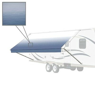 ALEKO Vinyl RV Awning Fabric Replacement 16X8 ft  Blue Fade Color