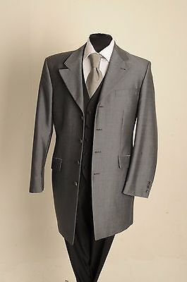 Mj-70P Mens Silver Mohair Prince Edward Jacket Wedding/dress/suit/formal