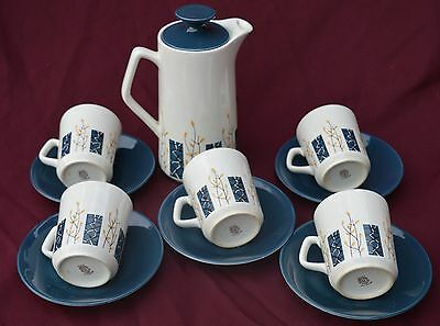 Beswick Apollo....  Coffee Pot Plus  5 Cups And Saucers