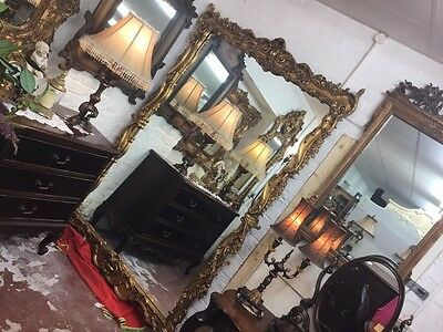 Large French Gild Floor To Ceiling Gold Mirror