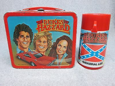 1983 DUKES OF HAZZARD  Cousins Coy,Vance LUNCHBOX & THERMOS General Lee C#7.5
