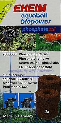 EHEIM aquaball biopower 2 Stück 2638080 phosphate out Filterpatrone 5,48€/St.