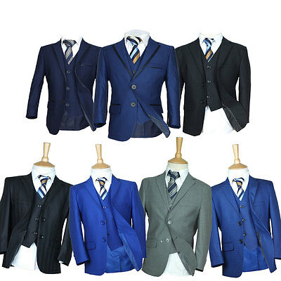 Page Boy Suits, Premium Formal Boys Wedding Suit, Grey, Navy, Blue, Black Suit