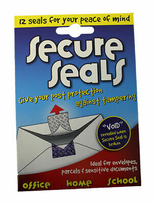 6 x Secure Security Self Adhesive Tamper Evident Seals 12 per pack 202095