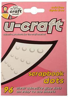 U-Craft 14mm flat Scrapbook Glue Adhesive permanent Dots 96 per pack 201084