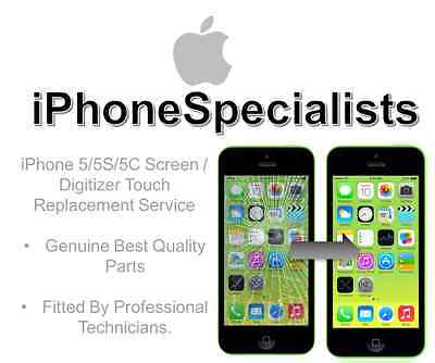 Apple Fast! iPhone 5 5C 5S Screen Replacement Repair Fix Service.Touch Digitiser