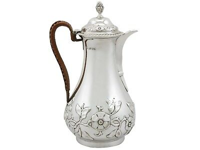 Sterling Silver Hot Water/Coffee Jug - Antique Victorian