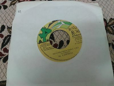 Reggae 7 Inch Single Al Campbell - No Children Dont Cry