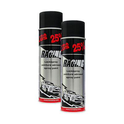 2x KWASNY 288 921 AUTO-K RACING Lackspray Schwarz Matt 500ml