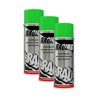 3x KWASNY 288 140 AUTO-K RACING Lackspray RAL 6018 gelbgrün 400ml