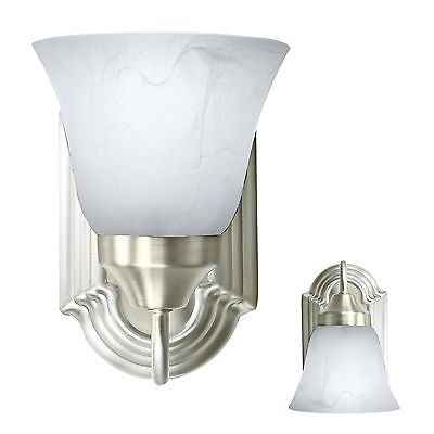 Brushed Nickel Wall Sconce Light Fixture Interior Lighting Single Light Room