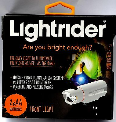 Lightrider Front Rear Head Light Set LED Flashing Batteries Bike Bicycle Cycling
