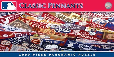 MasterPieces MLB Classic Pennants Panoramic Jigsaw Puzzle, 1000-Piece NWT