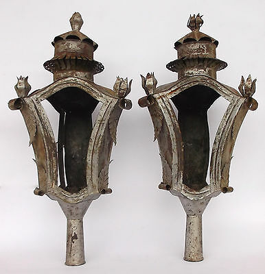 Antique Pair Of Church Processional Lanterns