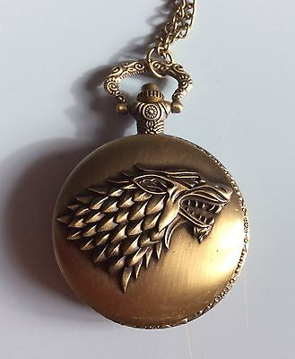 Quirky Women's Game Of Thrones Watch Necklace Pendant Ladies Xmas