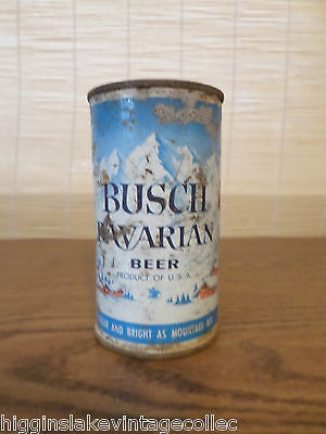 Vintage Busch Bavarian Empty Flat Top Beer Can