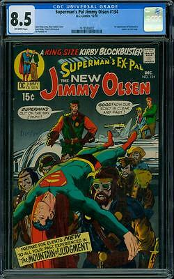 Superman's Pal, Jimmy Olsen 134 CGC 8.5 - OW Pages - 1st Darkseid