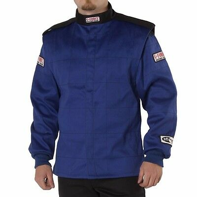 G-Force GF 525 Two Piece Auto Racing Jacket - Blue - Medium - SFI 3.2 A/5 - NEW