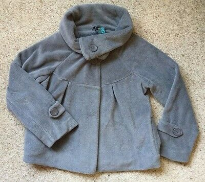 Girls Lovely Soft Fleece Coat From Next Age 11 Years  Ex Cond